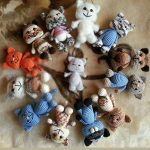 Mini Crochet Kit n' Kat. Page full of different colored cats || thecrochetspace.com