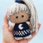 Mini Crochet Ninja Doll. Held in the palm of a hand || thecrochetspace.com