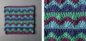 Mismatched Crochet Dishcloth | thecrochetspace.com