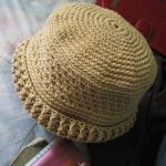 Momma Pia Crochet Hat. brimless, neat hat crated in cream    thecrochetspace.com