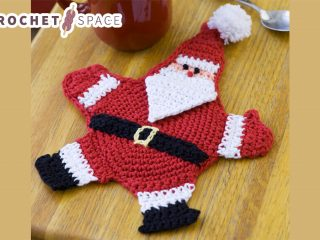 Mr Claus Crocheted Potholder || thecrochetspace.com
