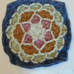 Namaste Joy Crochet Square. Inner square circle || thecrochetspace.com