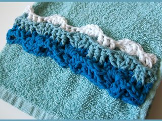 Ocean Waves Crochet Applique || thecrochetspace.com