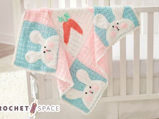 Perfect Luv Bunny Blanket || thecrochetspace.com