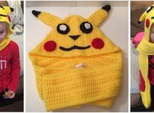 Pikachu crocheted scoodie | the crochet space