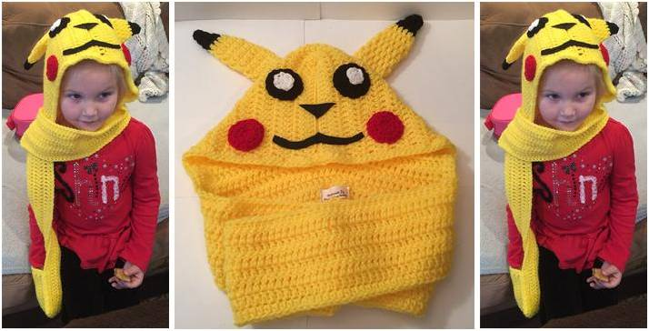 Pikachu Crocheted Scoodie Free Crochet Pattern