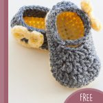 Pippa Jay Crochet Booties. One shoe on top of the other || thecrochetspace.com