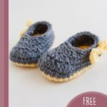 Pippa Jay Crochet Booties. One pair of shoes crafted in grey || thecrochetspace.com