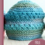 Precious Newborn Crochet Beanie. One hat crafted in different shades of blue    thecrochetspace.com