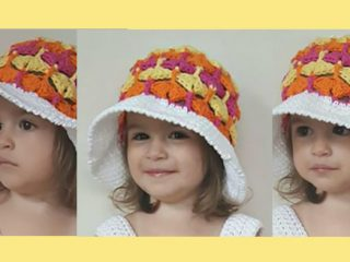 Pretty Fantail Crochet Hat || thecrochetspace.com