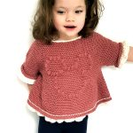 Pretty Minnie Crochet Top. Crafted in a dusky pink with white edging || thecrochetspace.com