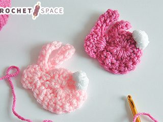 Quick Bunny Crochet Applique || thecrochetspace.com