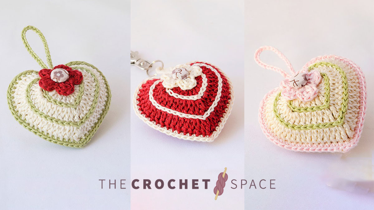 Quick Valentine Crocheted Heart || thecrochetspace.com