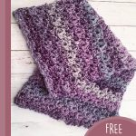 Quickly Textured Crochet Cowl. Cowl folded and laid out || thecrochetspace.com