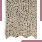 Rapid Ripple Crochet Afghan. Folded afhghan crafted in natural, neutral colors || thecrochetspace.com