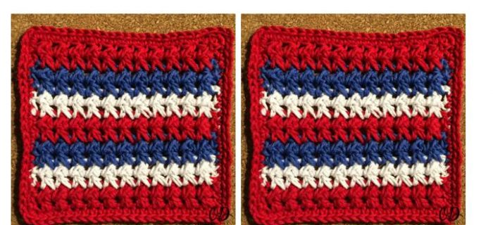 Crossed HDC Dishcloth Pattern | thecrochetspace.com