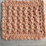 Remix Square Crochet Coasters. Singe Image Of Coaster With Border. Terracotta color. || thecrochetspace.com