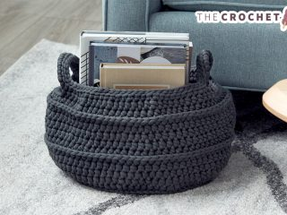 Richly Round Crochet Basket || thecrochetspace.com