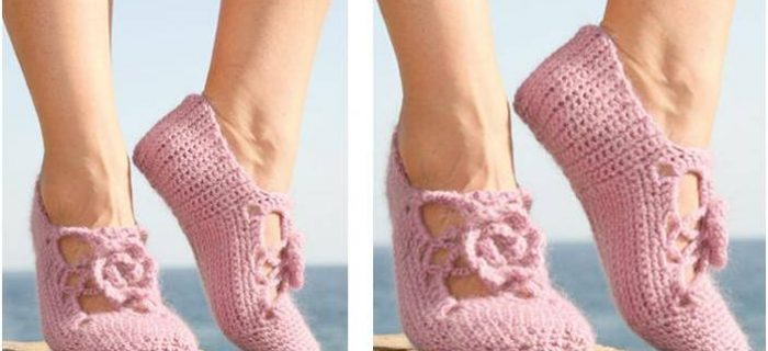 Rosie steps crocheted slippers | the crochet space