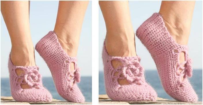 Rosie steps crocheted slippers | the crochet space