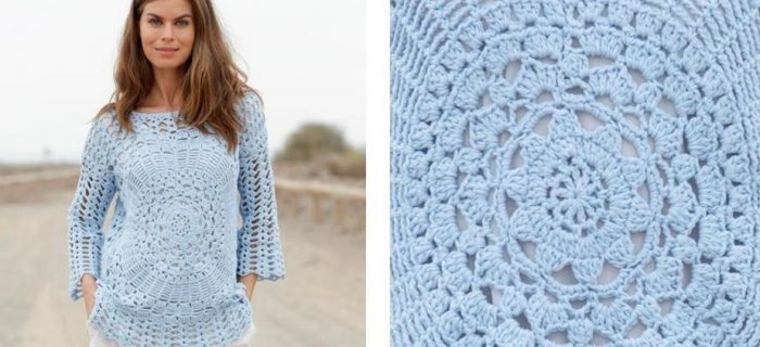 Roulette Crochet Summer Sweater | thecrochetspace.com