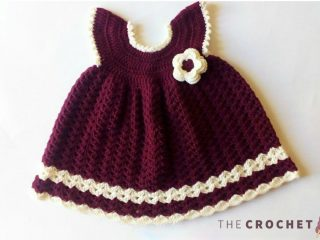 Sara Crochet Baby Dress || thecrochetspace.com