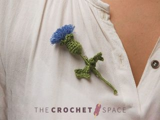 Scottish Thistle Crochet Flora || thecrochetspace.com