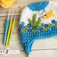 Sea Life Crochet Hat || thcrochetspace.com