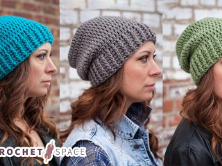 Shanti Crocheted Slouch Hat || thecrochetspace.com