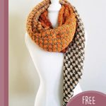 Shell Stitch Crochet Shawl. Scarf, once around the neck with tail hanging down over the left shoulder || thecrochetspace.com