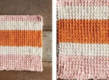 Tunisian Fountain Crochet Dishcloth | thecrochetspace.com
