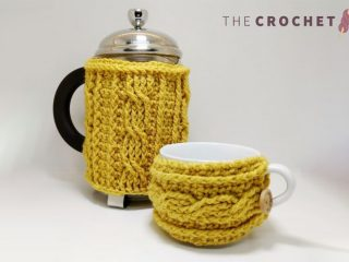 Simple Crochet Cafetiere Warmer || thecrochetspace.com