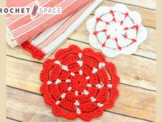 Simple Crocheted Pot Holders || thecrochetspace.com