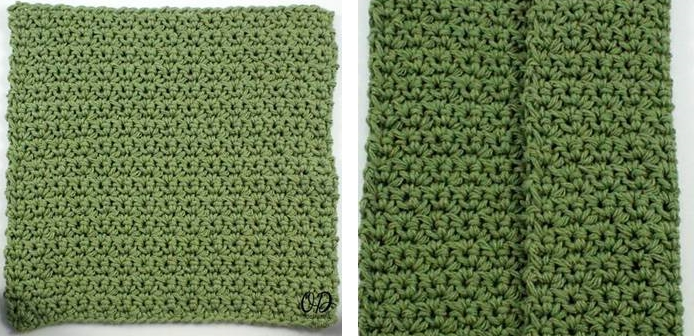 Simplest Crochet Dishcloth | thecrochetspace.com