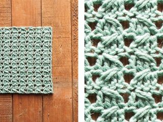 Gentle Sloped Crochet Dishcloth | thecrochetspace.com