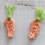 Small Carrot Crochet Accent. Two Images Of The Tiny Carrot || thecrochetspace.com
