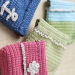 Smart Crochet Glasses Pouch. Various Mixed Pouches in Green, Pink and Blue || thecrochetspace.com