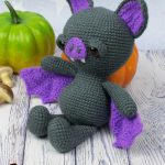 Spooky Halloween Bat. Bat leaning against a ripe tomato || thecrochetspace.com