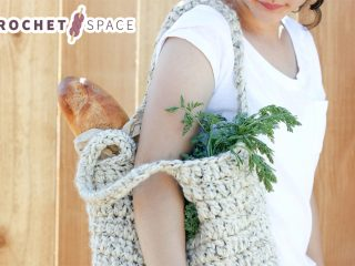 Sturdy Crocheted Market Tote || thecrochetspace.com