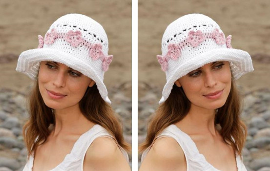 shady summer crochet hat | thecrochetspace.com