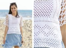 Lovely Lace Crochet Tee | thecrochetspace.com