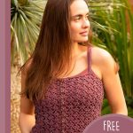 Summer Light Crochet Camisole. Lightweight and lacy camisole crafted in burgundy || thecrochetspace.com