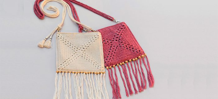 Summer Shoulder Crochet Bag || thecrochetspace.com