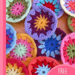 Sunburst Crocheted Granny Hearts. Circle in the middle of the heart || thecrochetspace.com