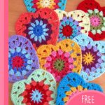 Sunburst Crocheted Granny Hearts. Multiple hearts in different colors || thecrochetspace.com