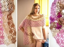 Delicate Crocheted Lace Shawlshawl | thecrochetspace.com
