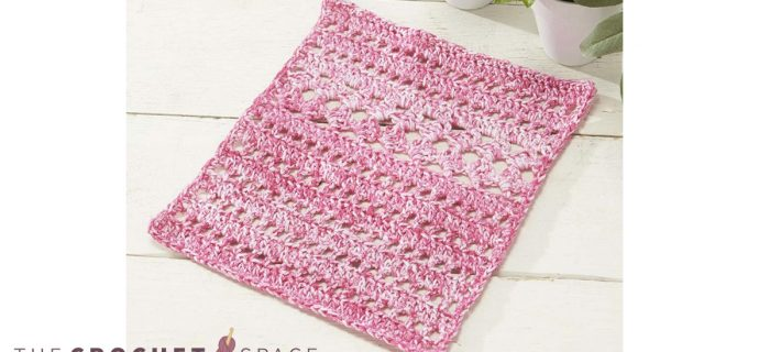Sweetest Pea Crochet Dishcloth || thecrochetspace.com