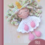 Sweet Unicorn Crochet Applique. Little girl with masses of hair and unicorn horn || thecrochetspace.com