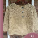 Tex Crochet Buttoned Cardigan . Jacket hanging up || thecrochetspace.com