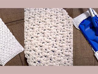Textured Crochet Mop Cover|| thecrochetspace.com